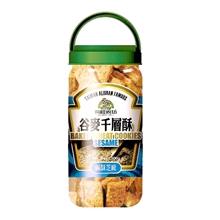 台湾有机厨房-谷麦千层酥-咸酥芝麻500g