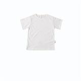棉集有机棉儿童短袖T恤-140 本白