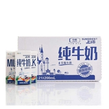 上质纯牛奶200ML*21瓶/提